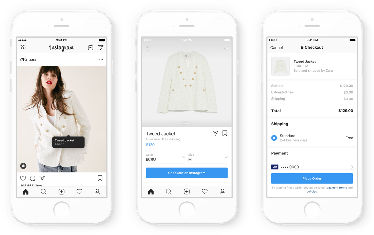 Instagram adds in-app checkout for shopping purchases - Vox