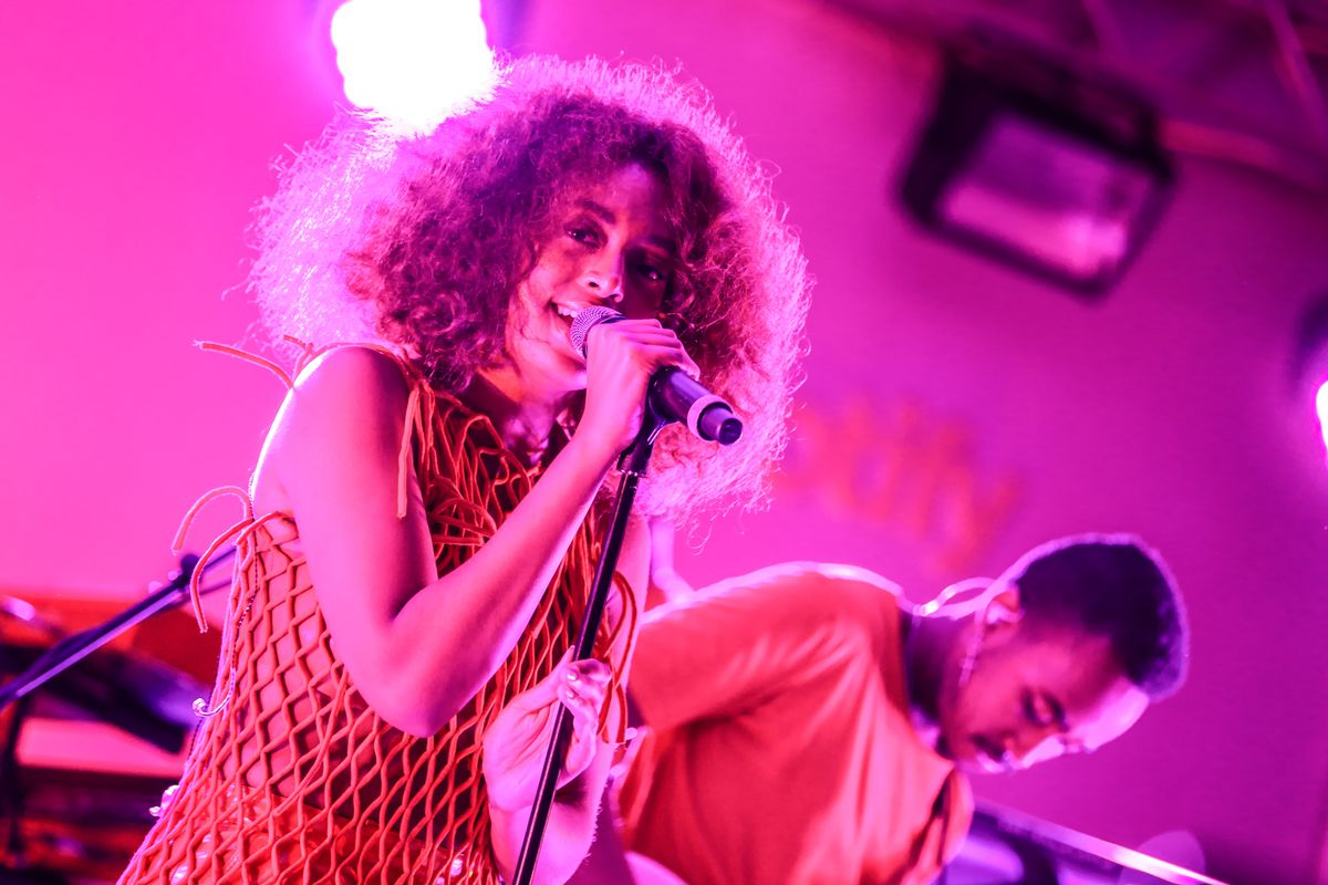 CANNES, FRANCE - JUNE 21: Solange Knowles performs at Spotify Beach Party during Cannes Lions at Spotify Beach House on June 21, 2017 in Cannes, France. (Photo by Tony Barson/Getty Images for Spotify)