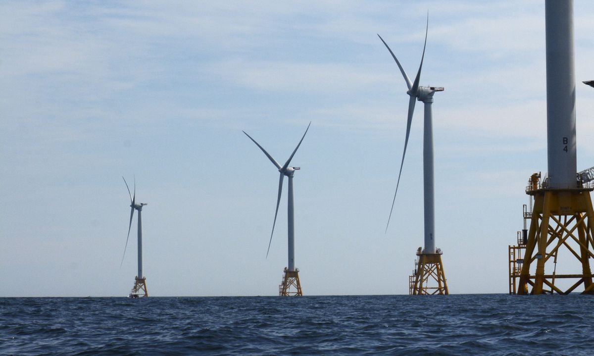 Deepwater Wind offshore wind farm at Block Island in 2016