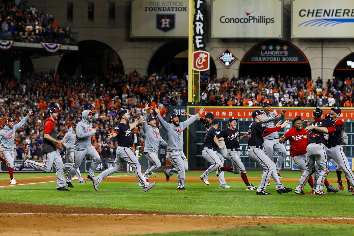 The Nationals were to take the field today as the first defending World Series champion from Washington, D.C., since 1925.