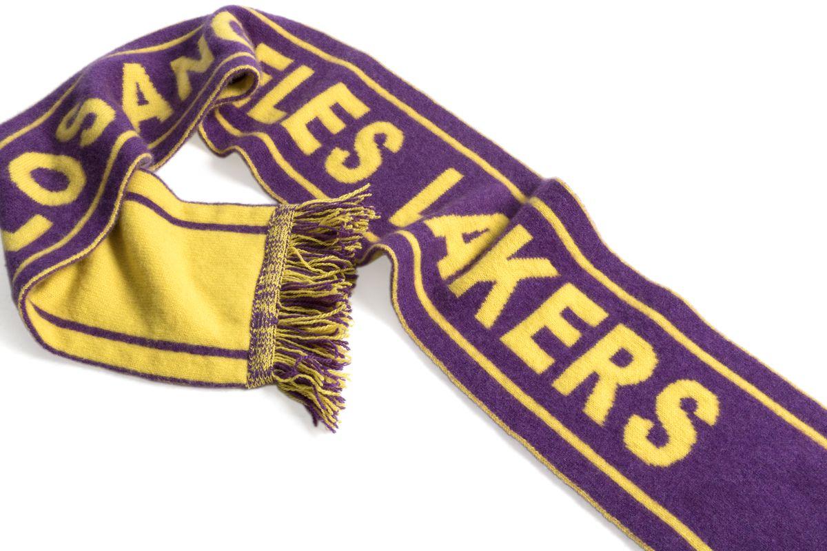 Image of Elder Statesman x NBA Los Angeles Lakers Scarf