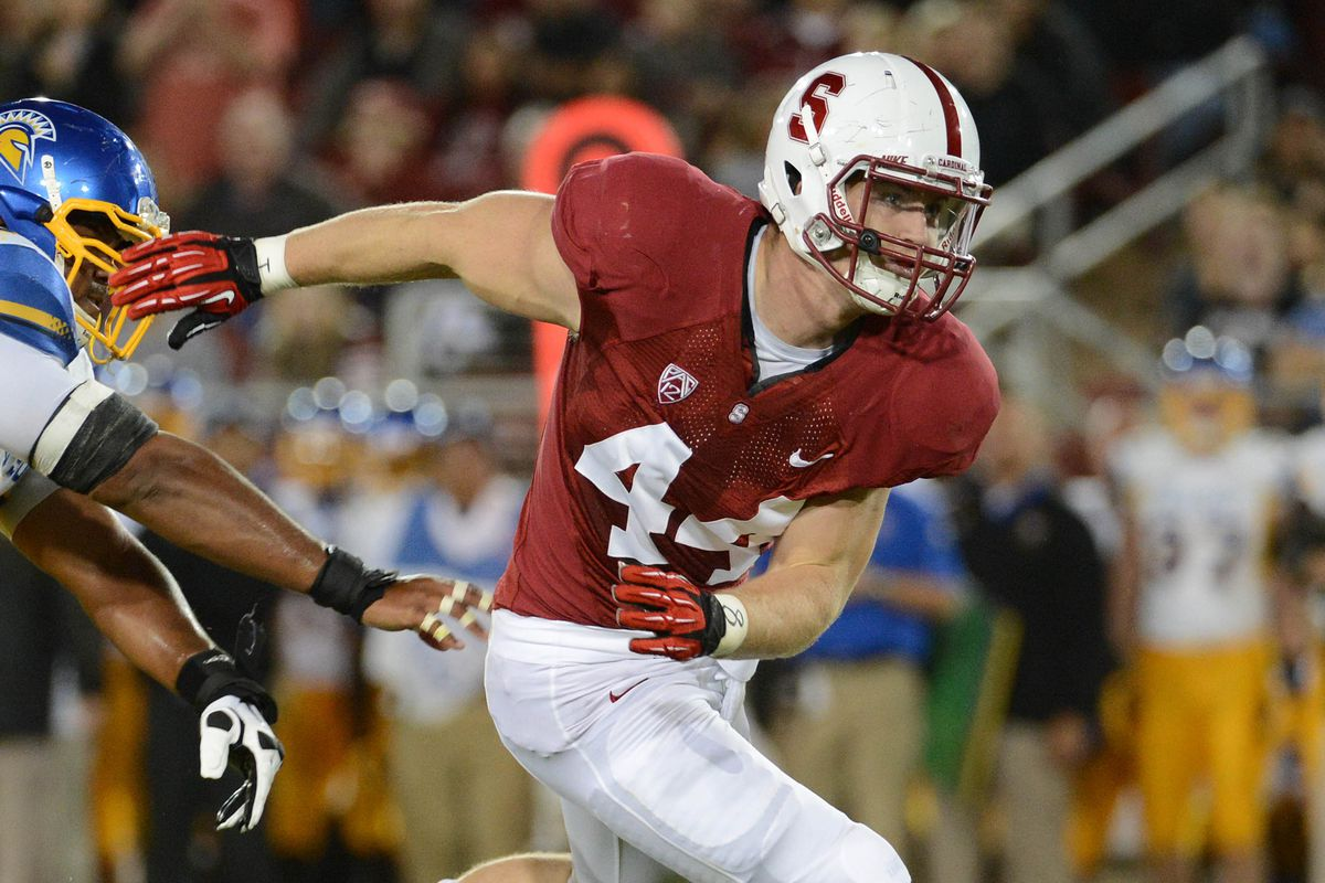 New Packer Chase Thomas in a college game with Stanford.
