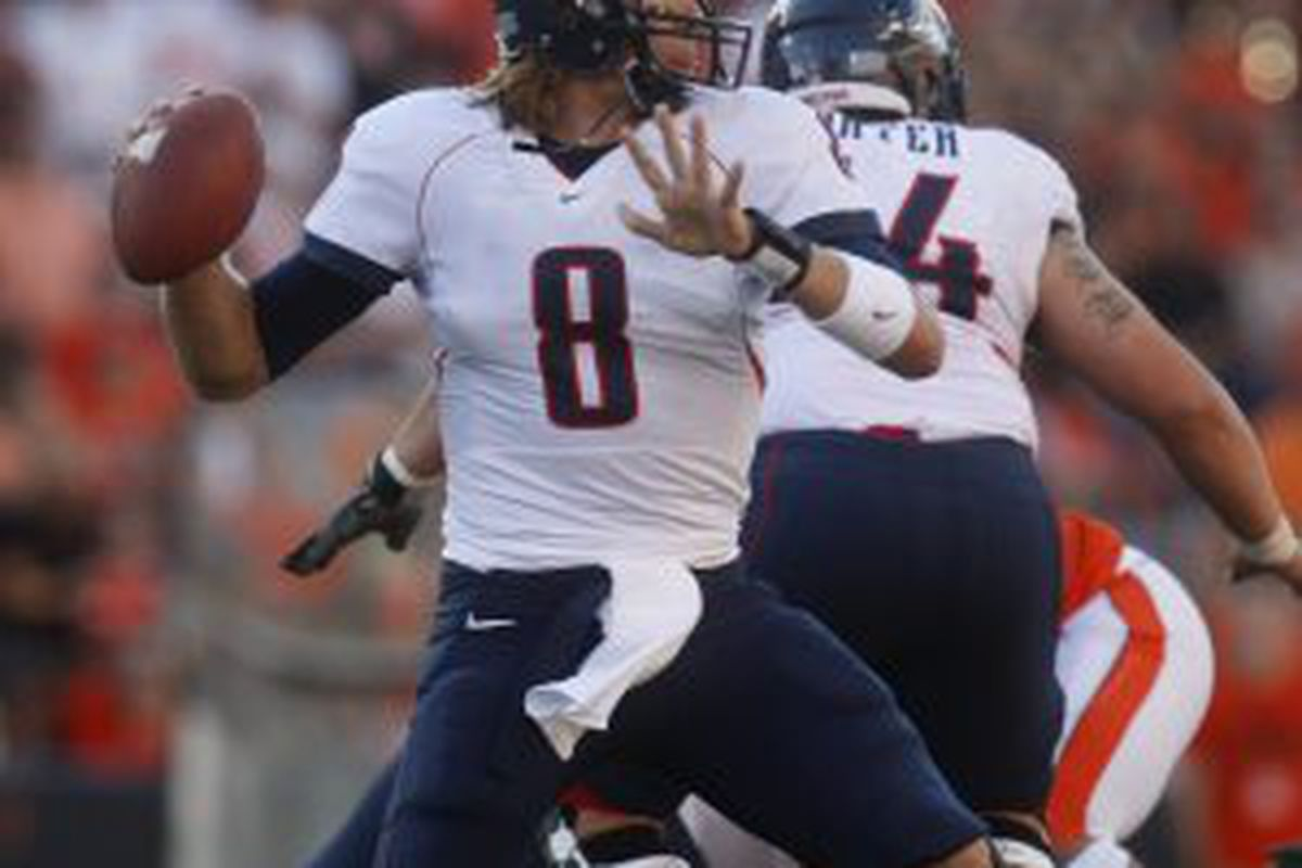 Nick Foles will lead Arizona again this season, but his offensive line has one total start to their credit. Whether they can keep Foles healthy will be key for the 'Cats.
