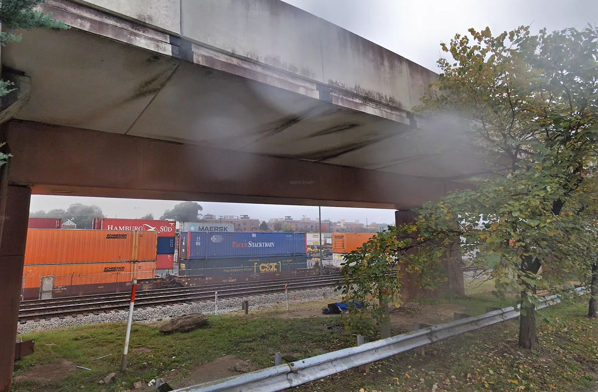 With railroad property Hulsey Yard cleared out next to the