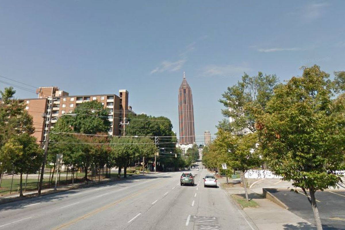 Seen here, North Avenue, stretching from Old Fourth Ward toward Midtown and downtown, could soon be a smart corridor.