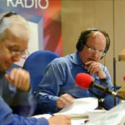 """John Humphrys, left, with James Naughtie, a lead anchor of BBC Radio 4's """"Today"""" show."""