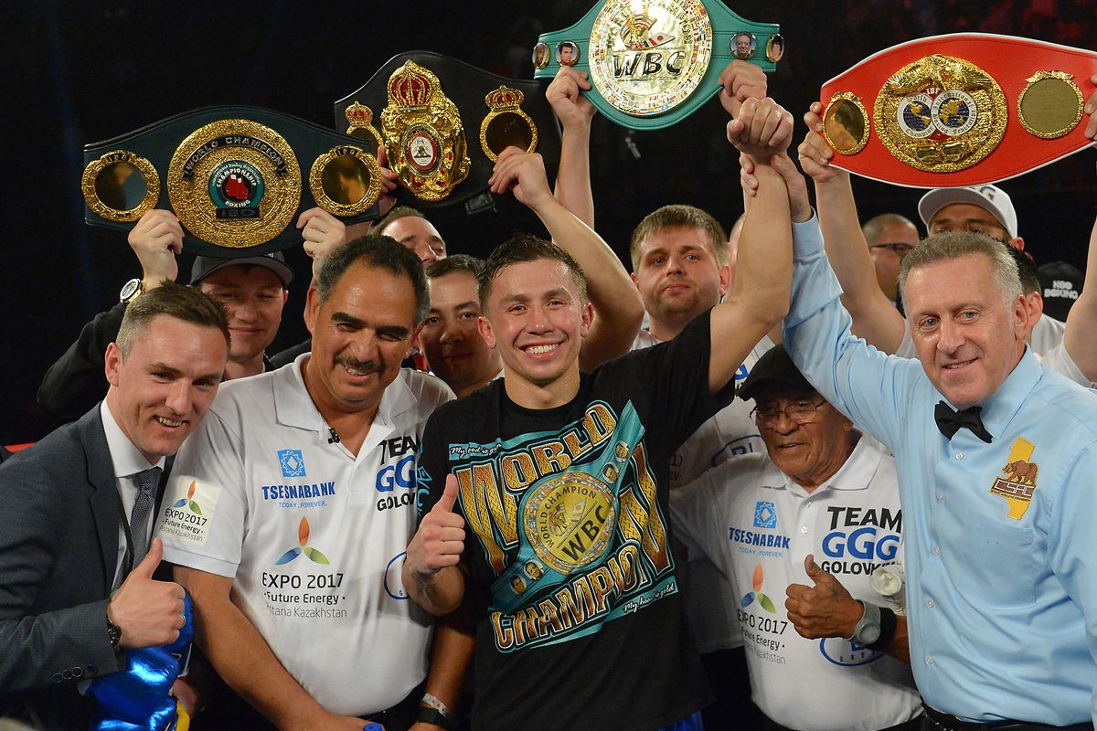 Image result for golovkin WITH belts