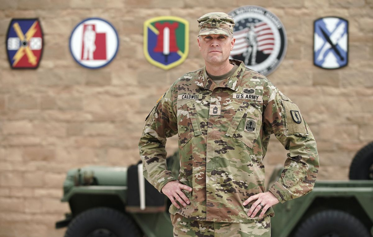 Utah National Guard Master Sgt. Christopher Caldwell poses for a photo at Camp Williams in Bluffdale on Wednesday, Sept. 1, 2021. The events of 9/11 inspired him to join the war on terror.