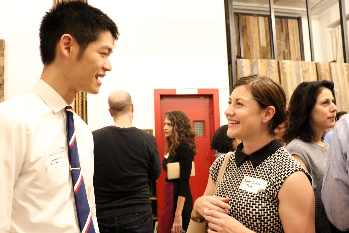Educators 4 Excellence digital manager Justin Lam speaks with Teach for America communications director Katie Ware.