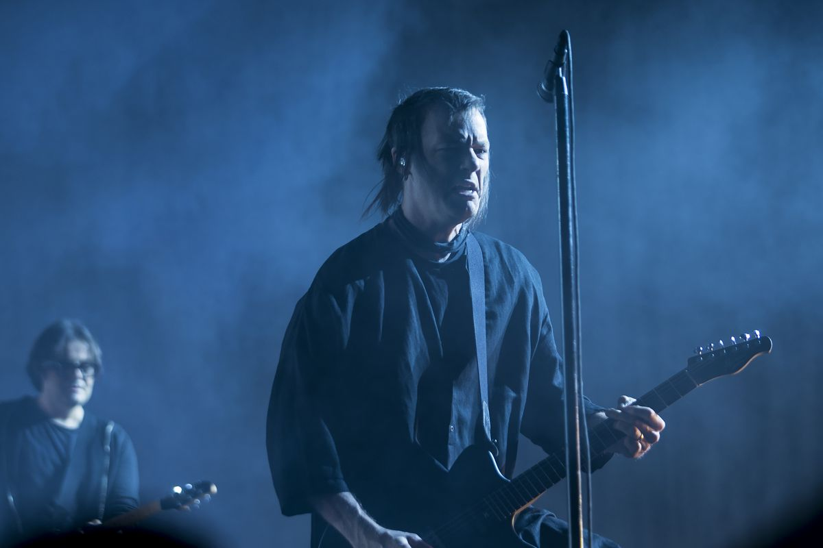 Nine Inch Nails performs Friday on the first day of Riot Fest in Douglas Park. | Ashlee Rezin/Sun-Times