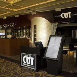 The entrance to Center Cut Steakhouse.