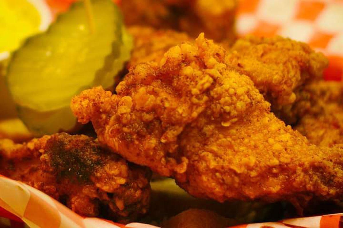 Fried chicken plate from Hotville Chicken in Baldwin Hills