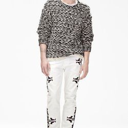 Wool Sweater ($99), Pants ($99), Suede Boots ($199)