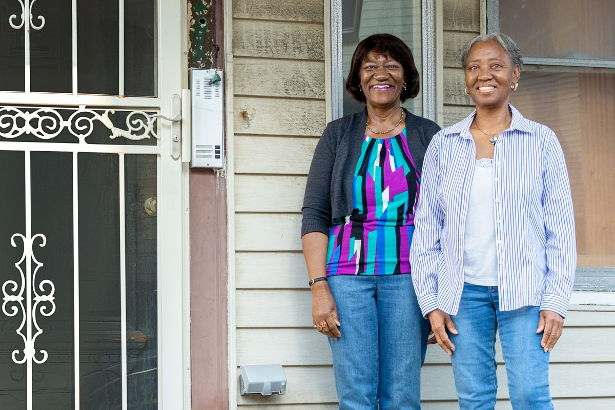 Spring 2021, Dorchester 1st look, homeowners Carol Wideman and her sister Willie