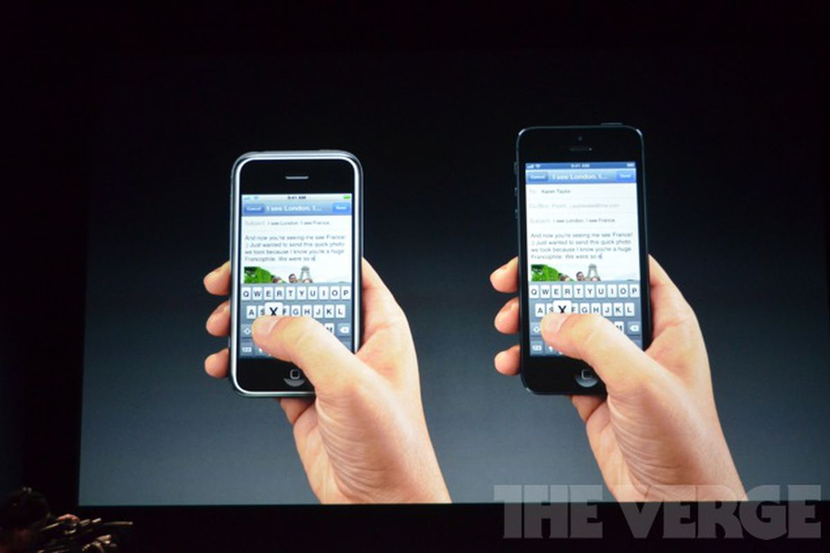 iphone 5 vs original iphone