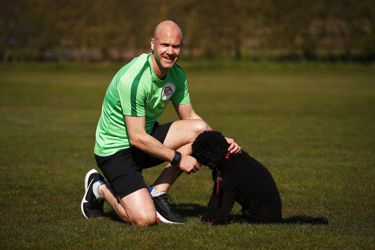 Premier League Referee Anthony Taylor Training During The Lockdown Due To Coronavirus Pandemic