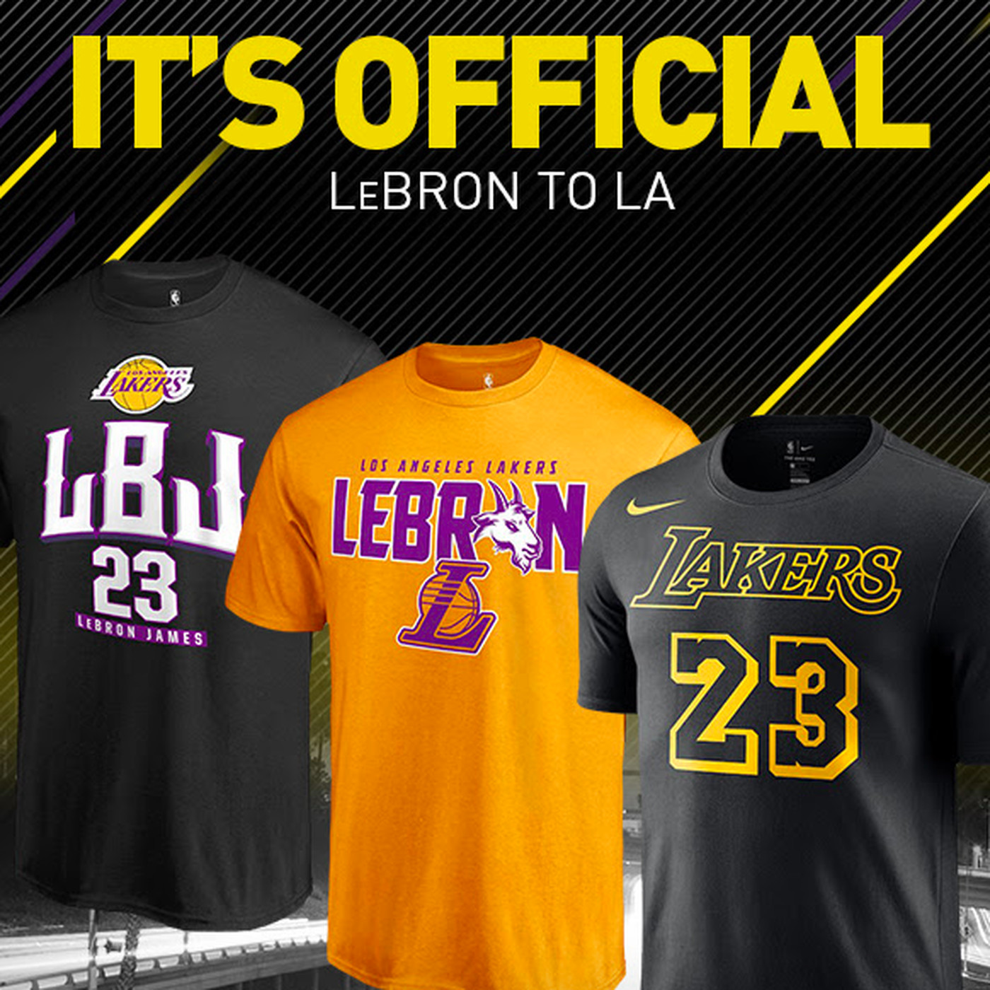 save off 25855 16443 NBA store begins selling LeBron James Lakers gear - Silver ...