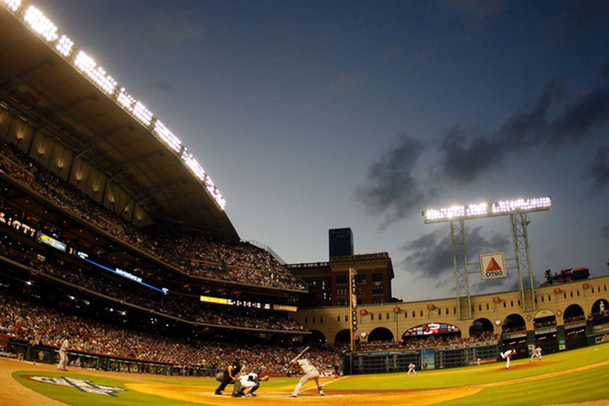 Opening Day at Minute Maid Park on April 5, 2010 in Houston, Texas.  (Photo by Chris Graythen/Getty Images)