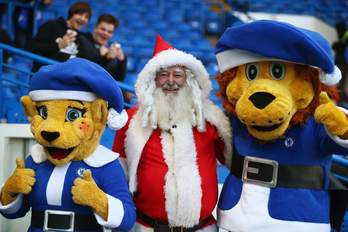 Eveything is going Chelsea's way this season, even the big fella in the red suit is on their side.