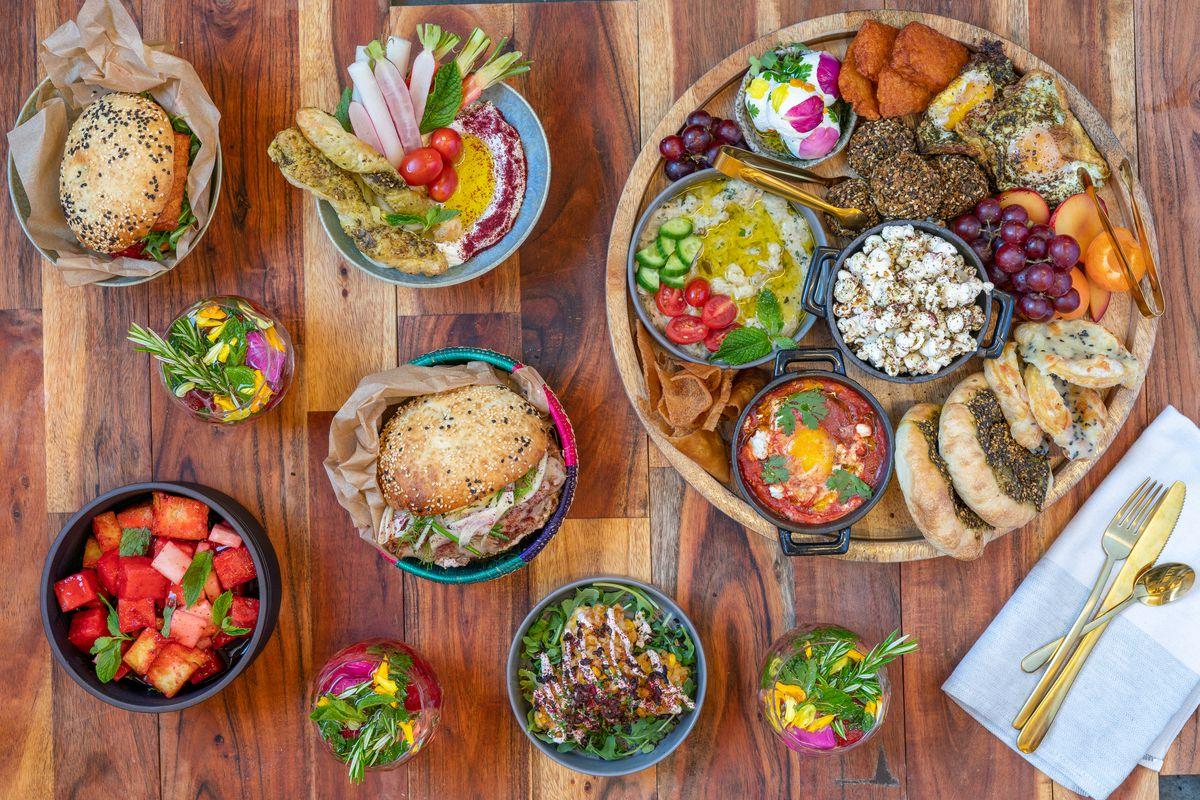 A mezze brunch spread from Lulu