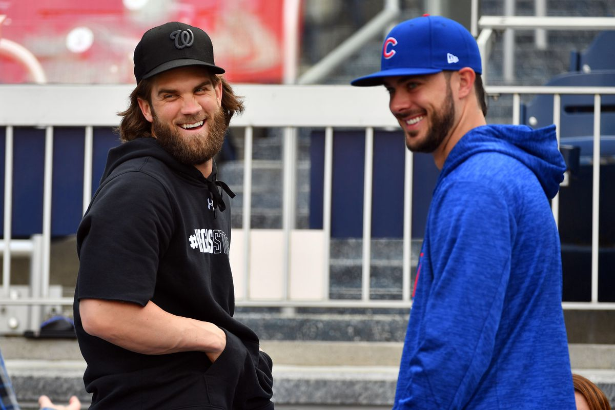 """brand new 0fc90 42ab1 Cubs' Theo Epstein on signing Bryce Harper: """"Ask Kris Bryant ..."""