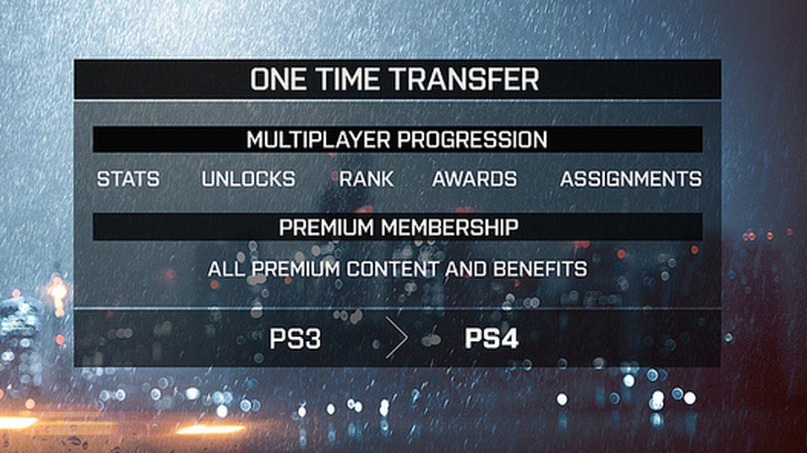 Battlefield 4 Will Allow Premium Membership Stat Transfer Cross Gen Polygon