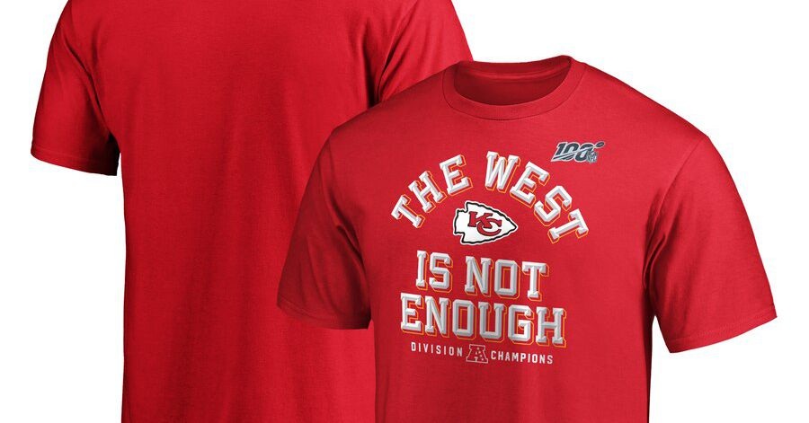 The Chiefs' AFC West title gear is here...