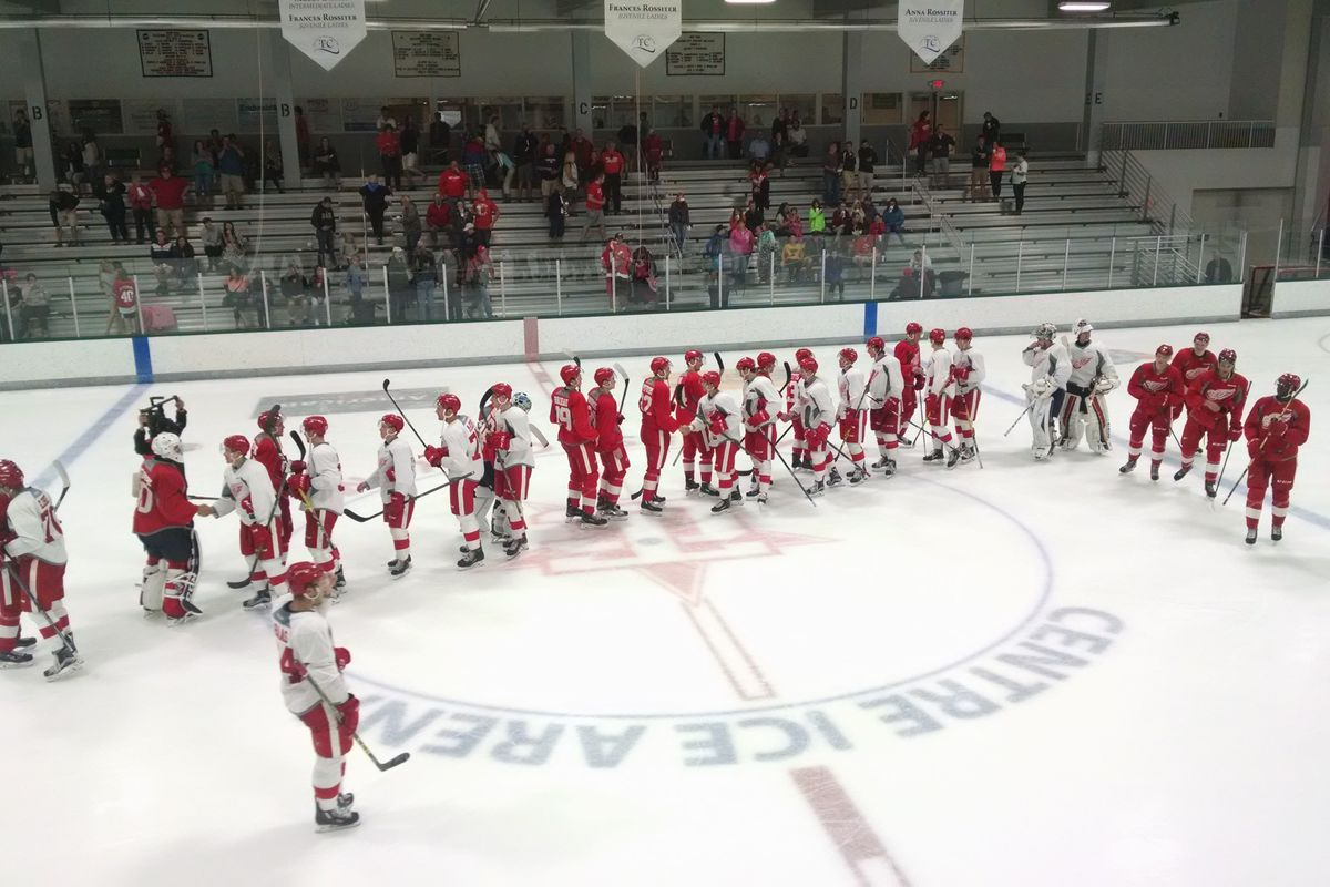 Hugs And Handshakes All Around As The 2016 Red Wings Development Camp Comes To A Close