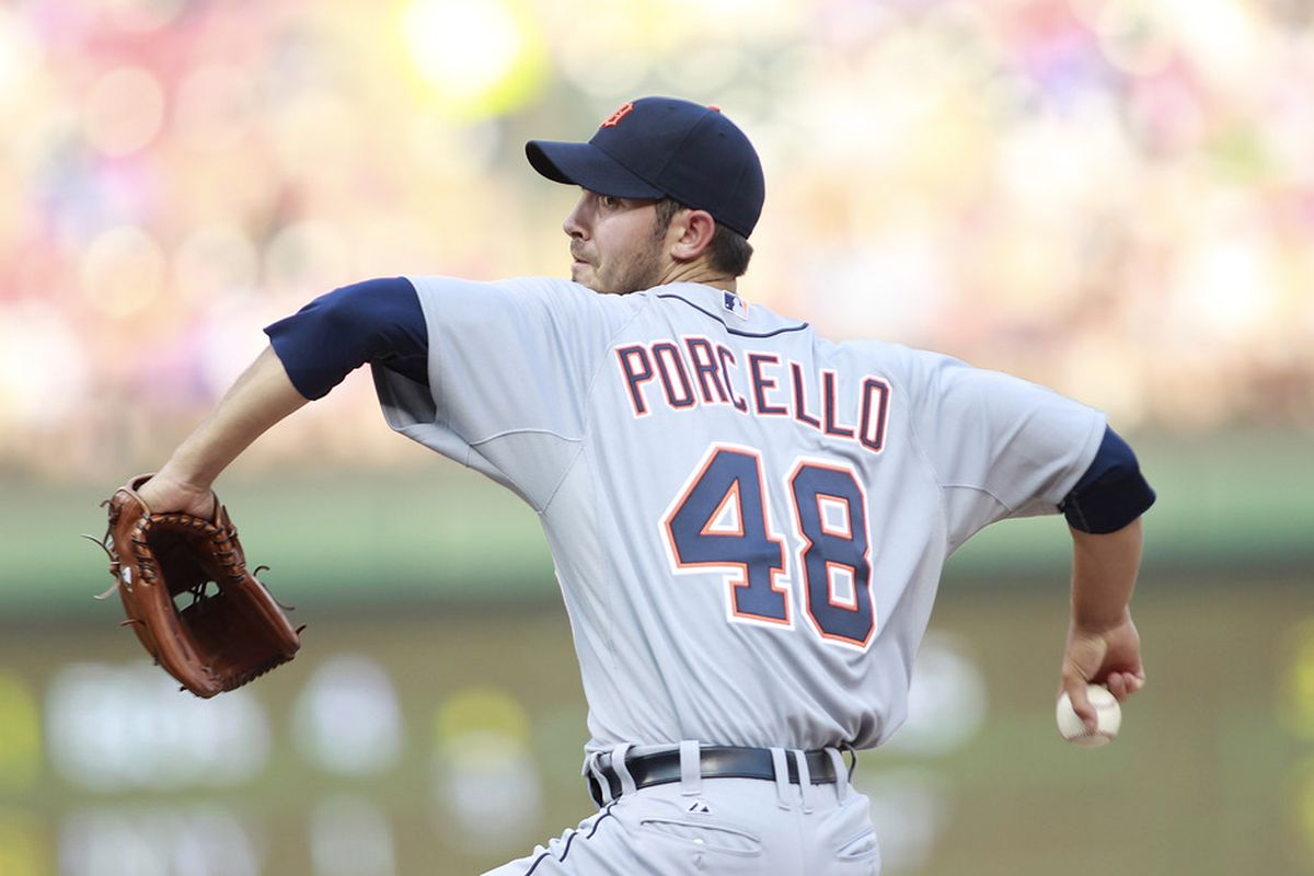 Where would Rick Porcello have been drafted had there not been signability concerns? (Photo by Rick Yeatts/Getty Images)