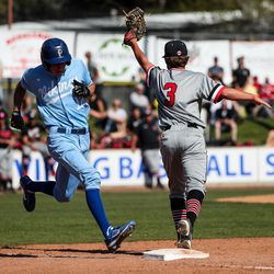 Pleasant Grove hosts American Fork in a high school baseball game on Tuesday, May 4, 2021.