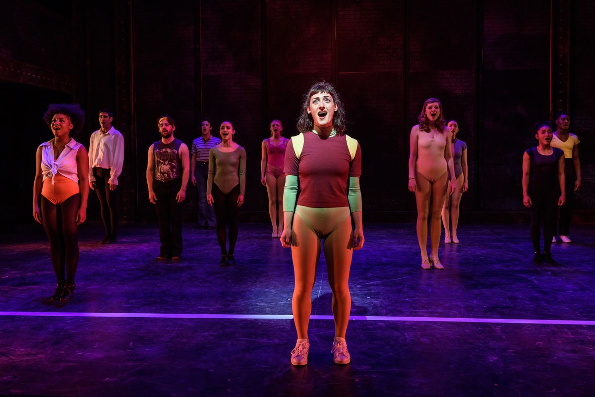 """Adrienne Storrs as Diana Morales in """"A Chorus Line"""" from Porchlight Music Theatre. Porchlight received 17 Equity Jeff Award nominations."""