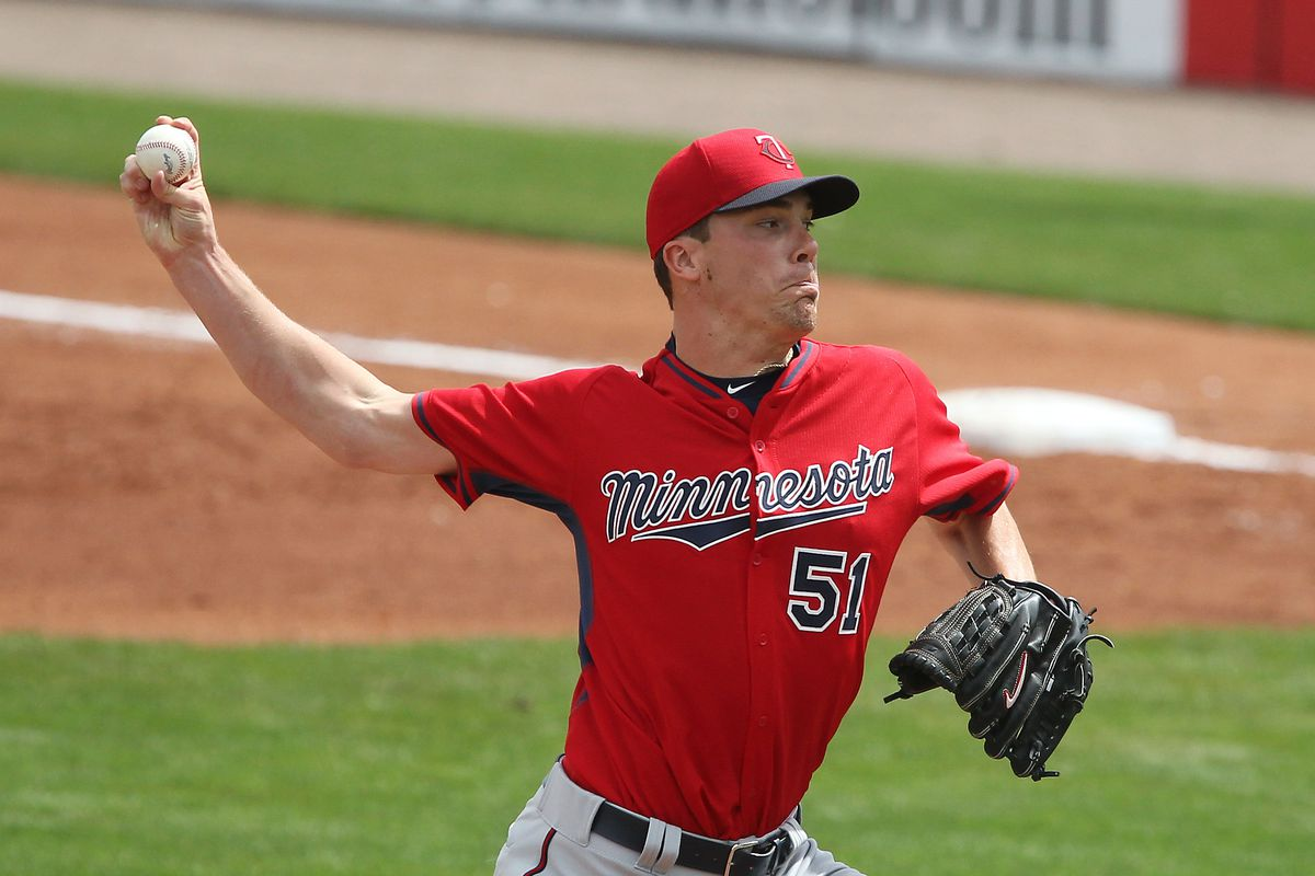 Twins right handed pitcher Alex Meyer helps kick off the 2015 season.