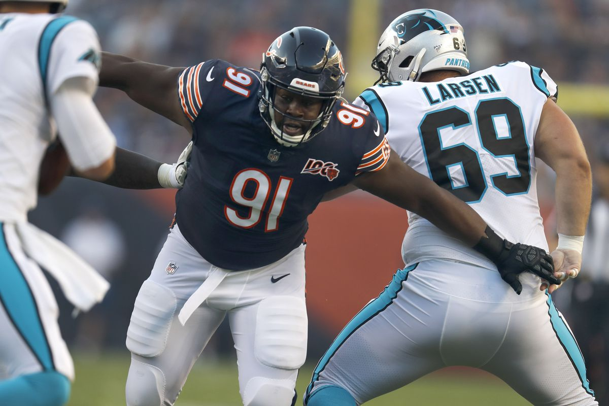 Bears nose tackle Eddie Goldman (91) was a Pro Bowl alternate in 2019.