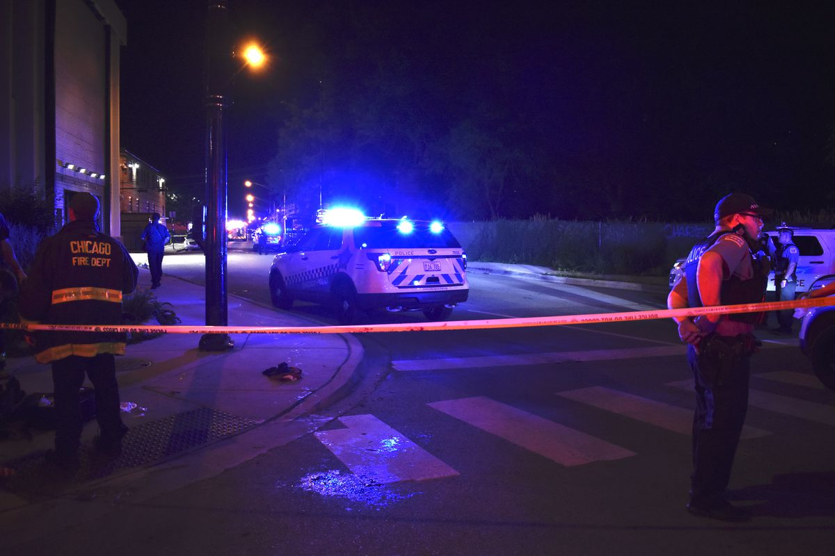 Two people shot in the 800 block of North Cambridge Avenue.