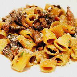 Rigatoni with chicken liver ragu and maiktake mushrooms at Sotto by @LA_Chefs