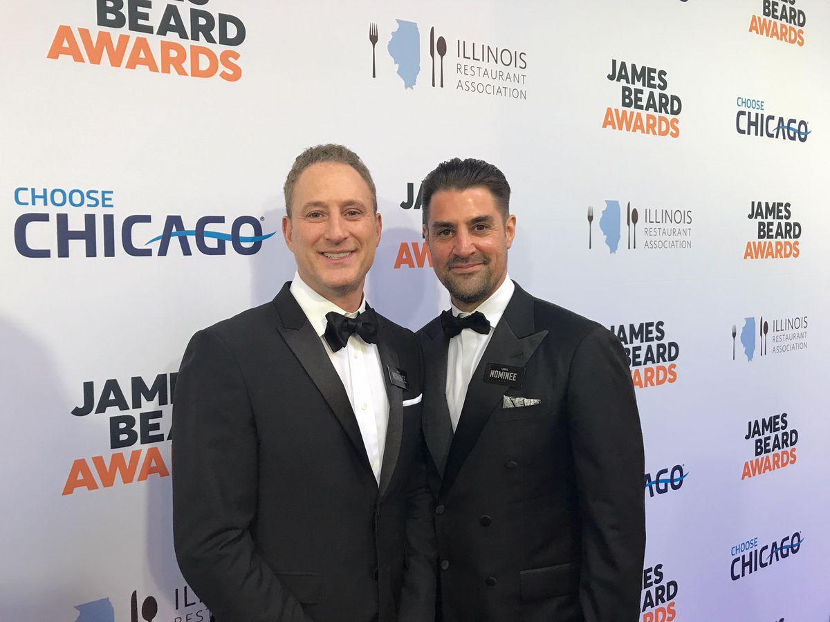 Rob Katz and Kevin Boehm of the Boka Restaurant Group at the Red Carpet for the 2018 James Beard Awards, May 7, 2018. | Ji Suk Yi
