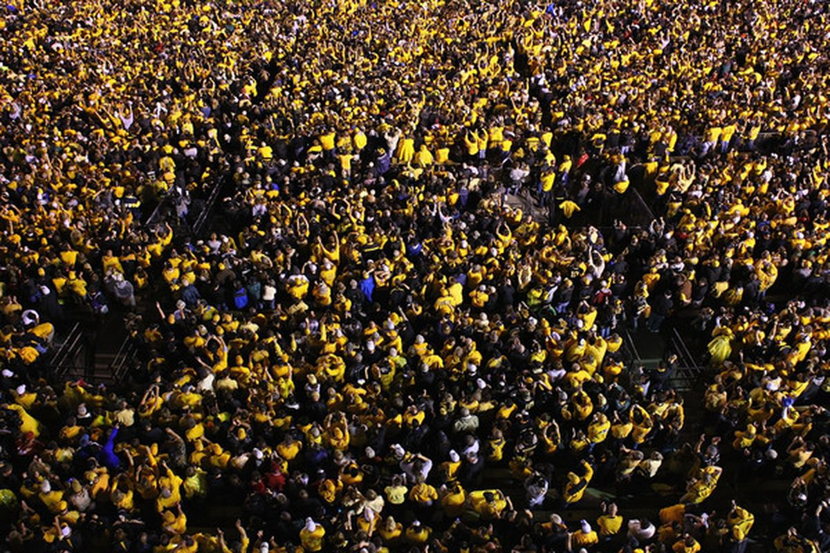 This is what Missouri fans look like right now (Photo by Dilip Vishwanat/Getty Images)
