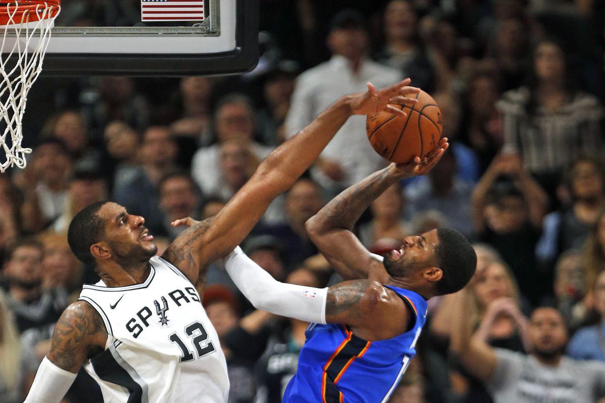 132d293e926 Game Preview  San Antonio Spurs at Oklahoma City Thunder - Pounding ...