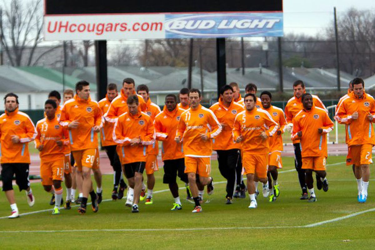 A younger looking Houston Dynamo squad opened up 2011's training camp Monday morning.  For the first time in a long time, the squad was filled with a number of new faces.