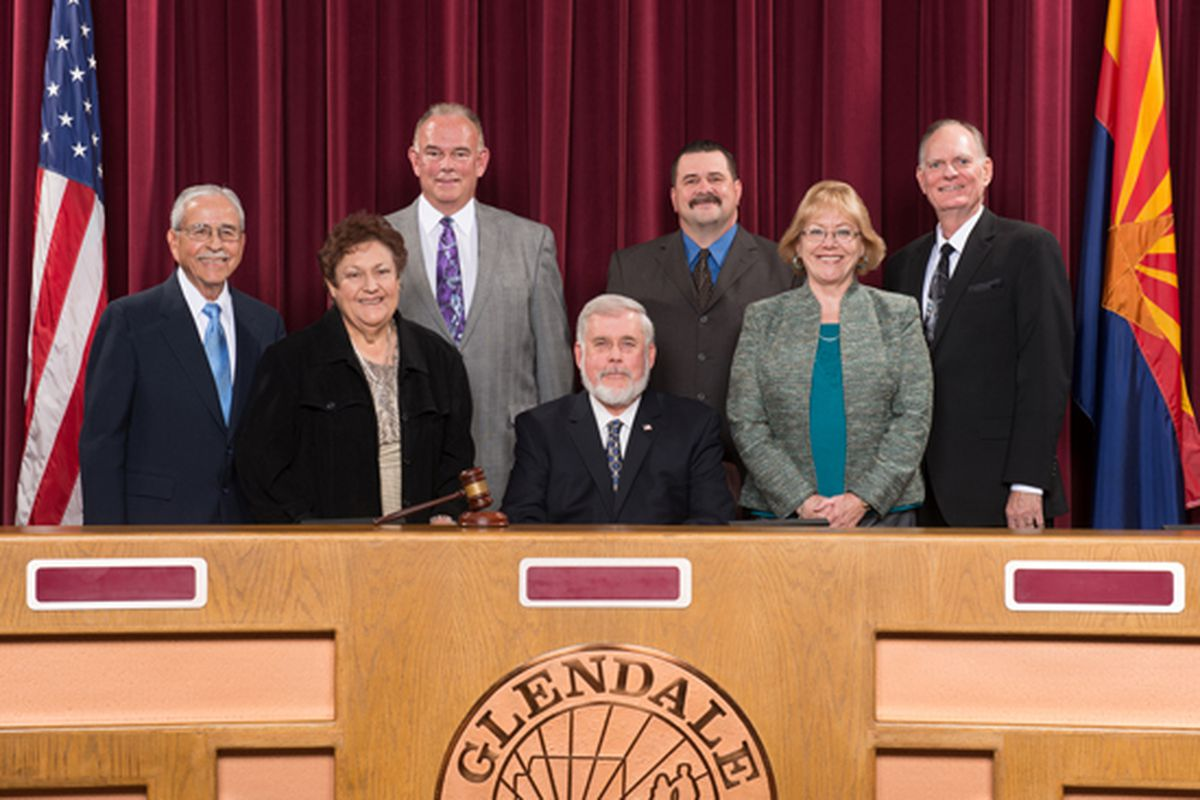 Pictured, from Left to Right: Councilmember Manny Martinez; Councilmember Norma Alvarez; Councilmember Gary Sherwood; Mayor Jerry Weiers; Councilmember Sammy Chavira; Vice Mayor Yvonne Knaack