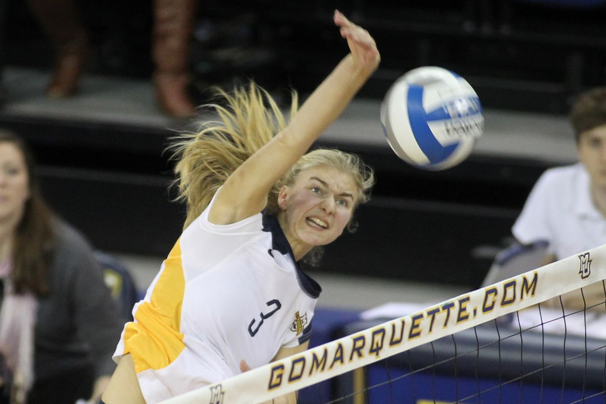 Nele Barber was named to the all-Marquette Invitational team for her efforts this weekend.