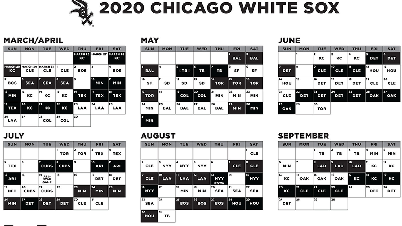 White Sox Home Opener 2020.2020 White Sox Schedule Reveal Day Is Here South Side Sox