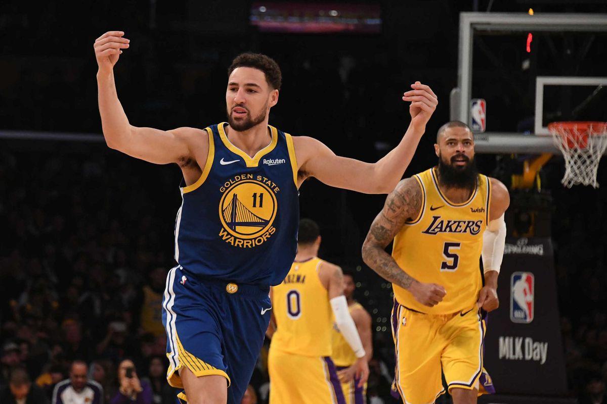 4f733086353cec Final Score: Thompson's 44 points lead Warriors' 130-111 win vs Lakers