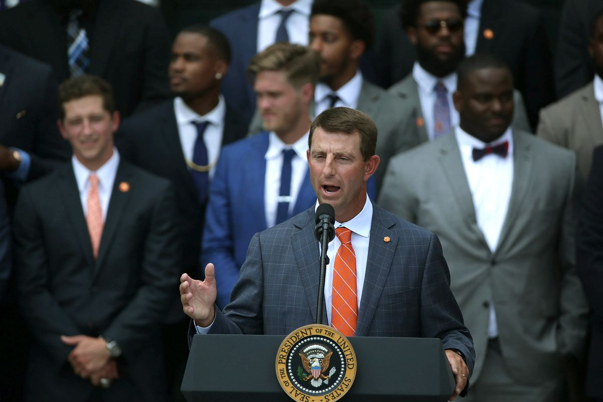 President Trump Welcomes NCAA Champion Clemson Tigers To The White House