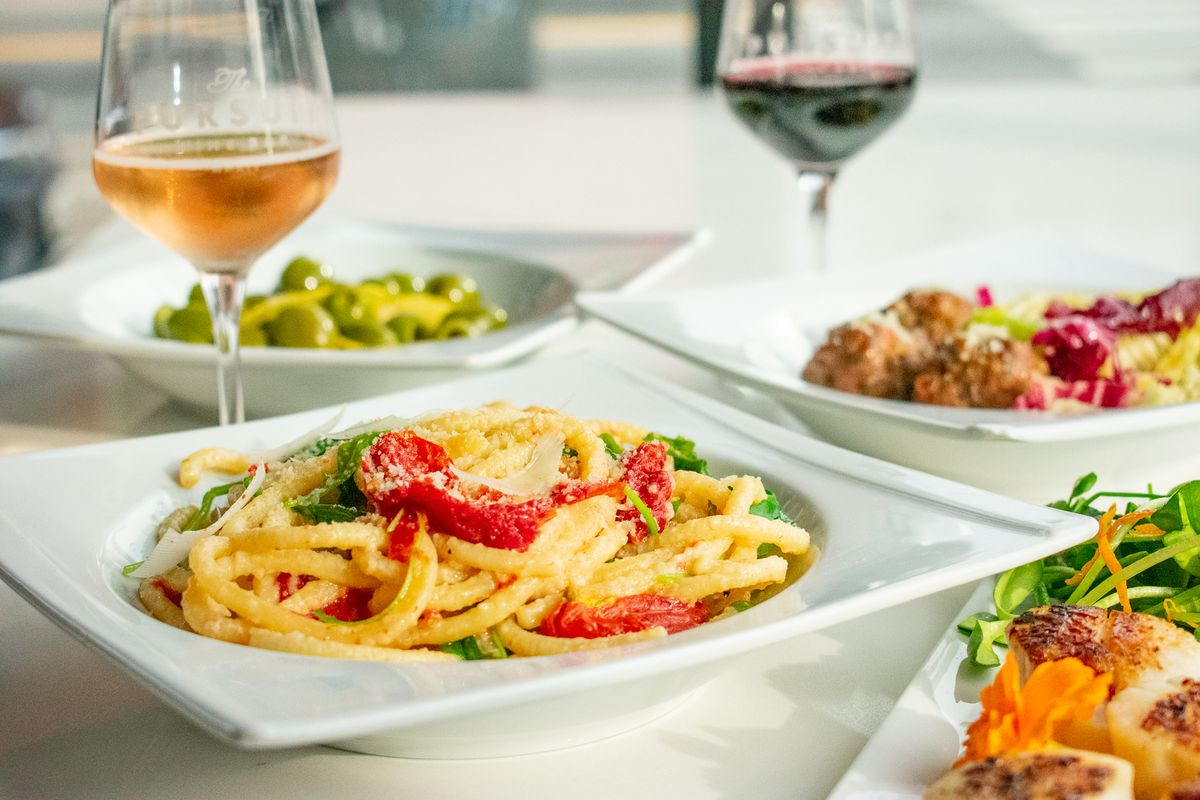 Assorted dishes at Pursuit Wine Bar