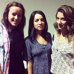 """LA bloggers Carrie Zaeh and Kiara Schwartz with Kleah Graham of <a href=""""http://www.charlieandlee.com/store/index.php"""">Charlie & Lee</a> (center)"""