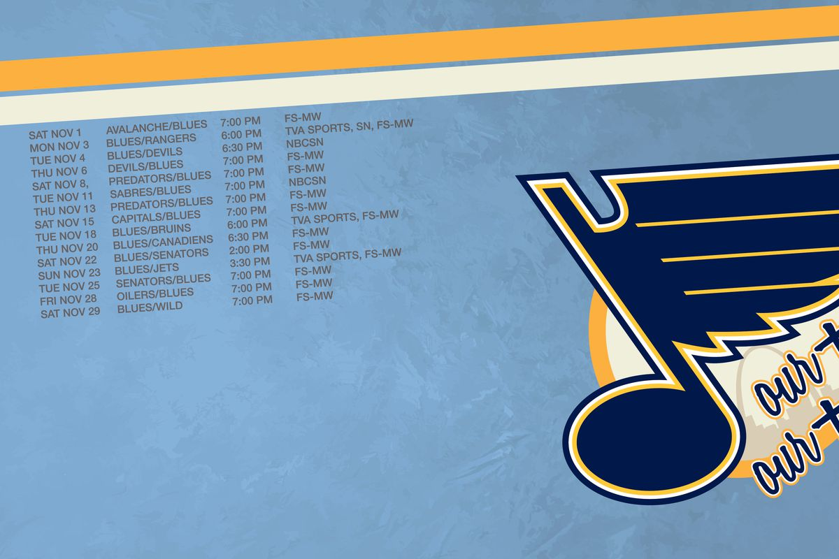 New Month, New Wallpaper. Let's Go Blues!!