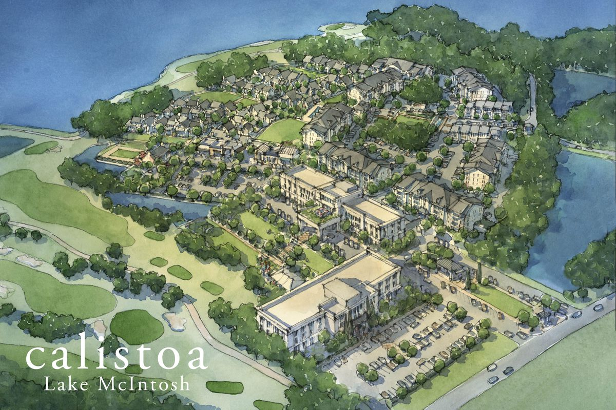 """The vision for a waterfront haven, 30 minutes from downtown Atlanta, """"for knowledge workers, millennials, and Baby Boomers alike."""""""