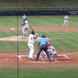 Sean Murphy bats in the second inning
