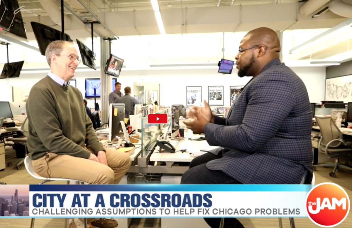 Writer Ed Zotti discusses the first of his new Sun-Times series on Chicago at the crossroads on WCIU The Jam.